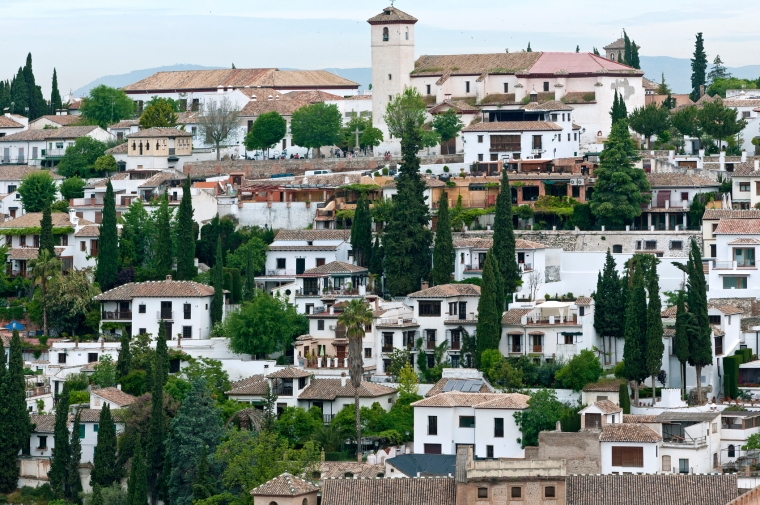 Albayzín, the oldest district of Granada, Andalusia